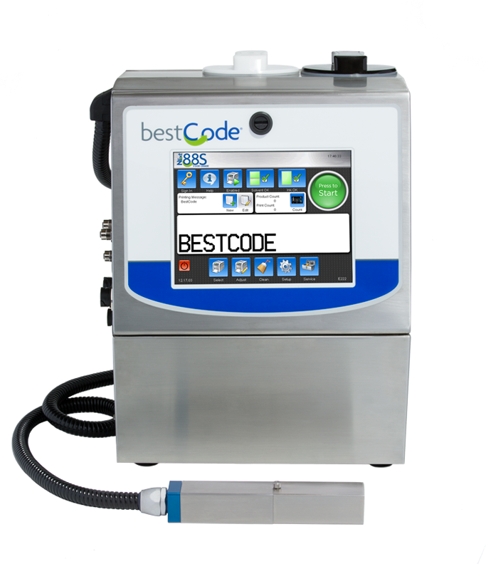 BestCode-88s-opaque-date-coder-continuous-inkjet-CIJ-printing-system-for-dark-colored-substrates